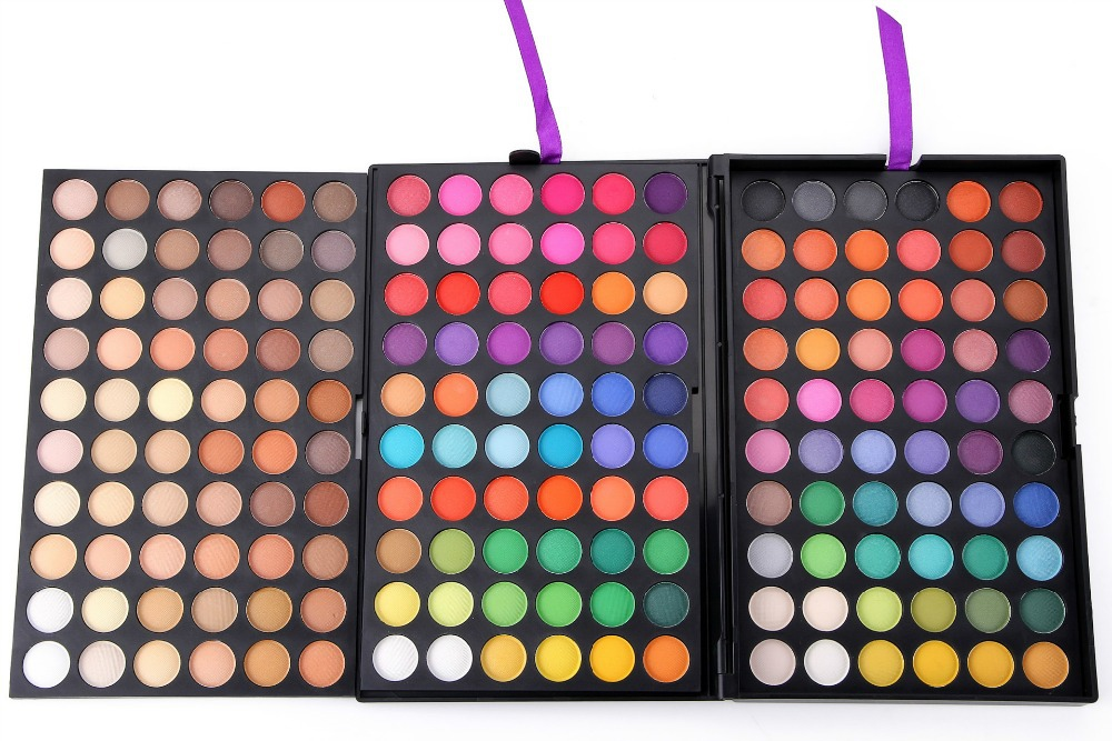 wholesale new 180 colors multi-combination Makeup Eye Beauty Waterproof Colours Make up Eyeshadow Palette 5set/lot free shipping(China (Mainland))