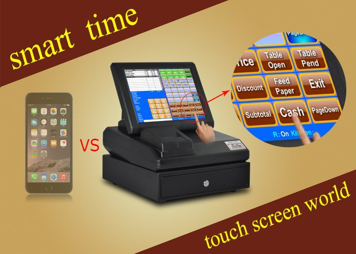 High quality Touch POS billing machine price with card swipe machine(China (Mainland))
