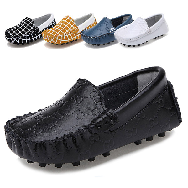 Hot 12 Colors Cow Genuine Leather Children Shoes Girls Boys Breathable Fashion Casual Sneakers Slip-On Kids Boat Shoe Size 20-25(China (Mainland))