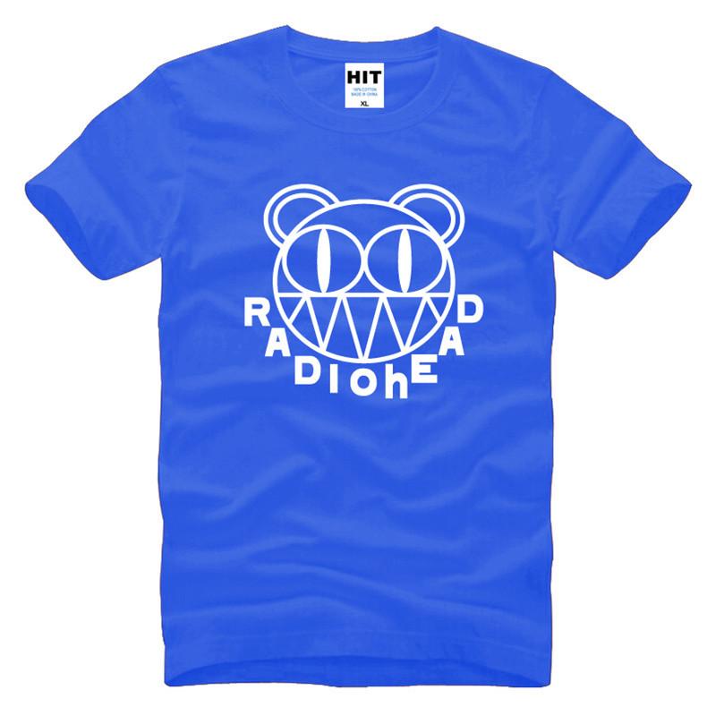 2016 Summer Rock Radiohead T Shirt Men Short Sleeve Cotton Punk Alternative Rock Radiohead Logo T-shirt Tops Tee(China (Mainland))