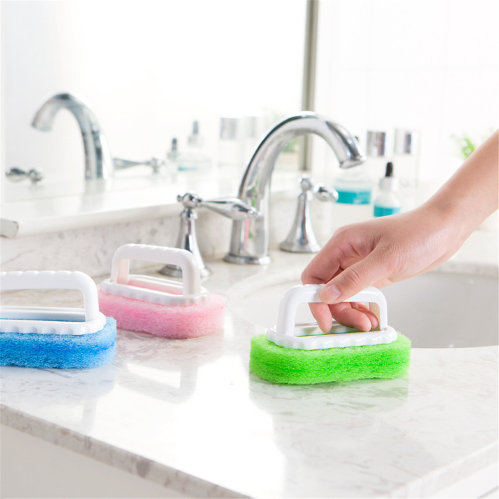 random color plastic handle sponge bath brush cleaning tile glass clean  brushes sponges bathroom kitchen brush. Kitchen Wall Tile Cleaner  Kitchen Oil Proof Clear Wall Stickers