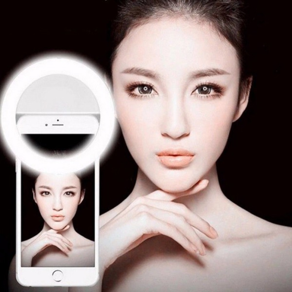 Selfie Portable Flash Led Camera Phone Photography Ring Light Enhancing Photography for iPhone Smartphone Pink White Black(China (Mainland))