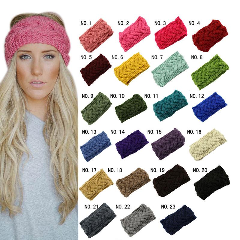 Knitted Turban Headbands Winter Warm Crochet Head Wrap Wide Ear Warmer Hairband Hair Accessories For Women HB88(China (Mainland))