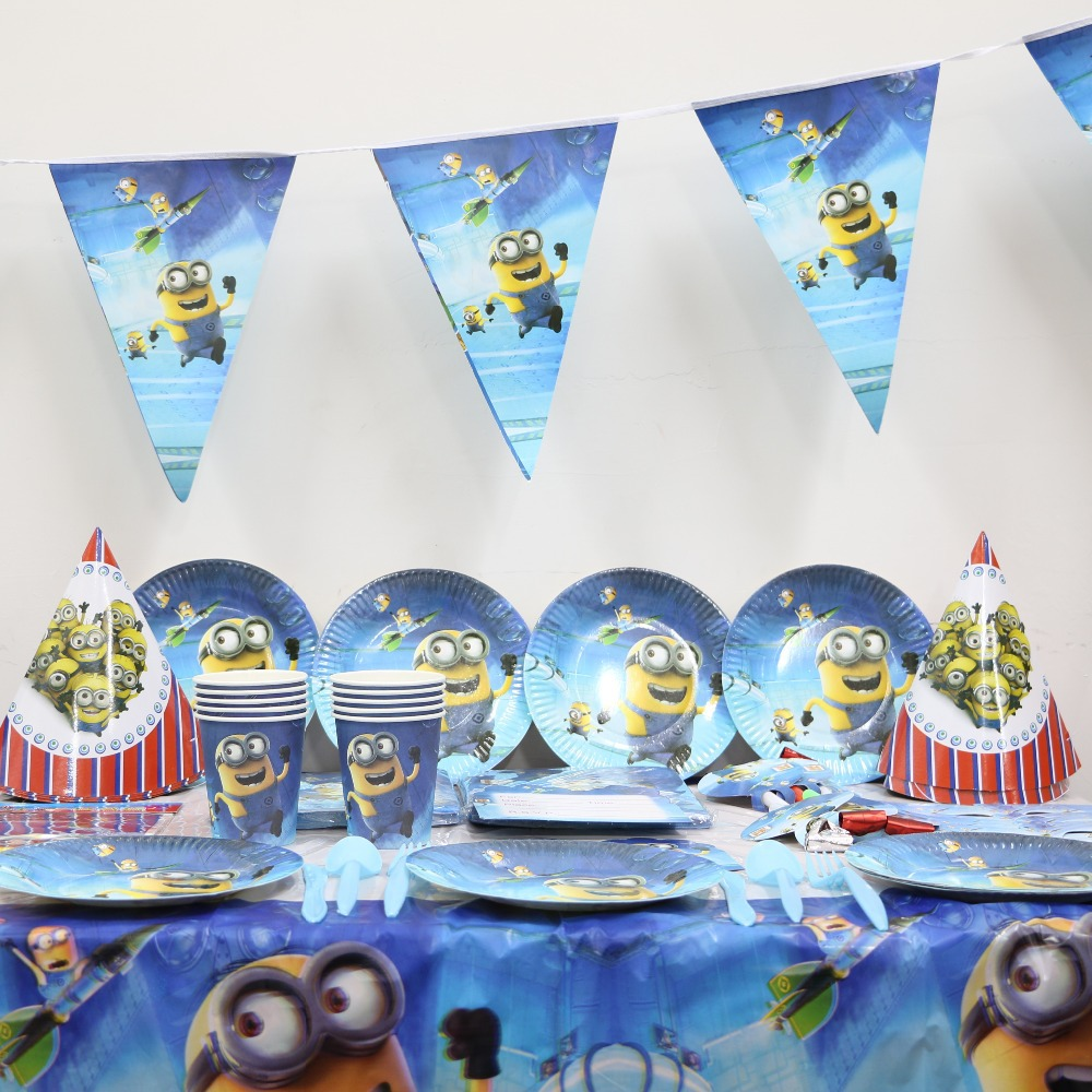 me minions party supplies kids birthday party decoration set for baby