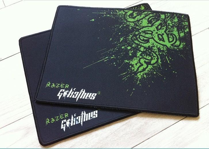 Free shipping razer goliathus gaming mouse pad 320*240*4mm locking edge mouse mat speed version for dota lol cs(China (Mainland))
