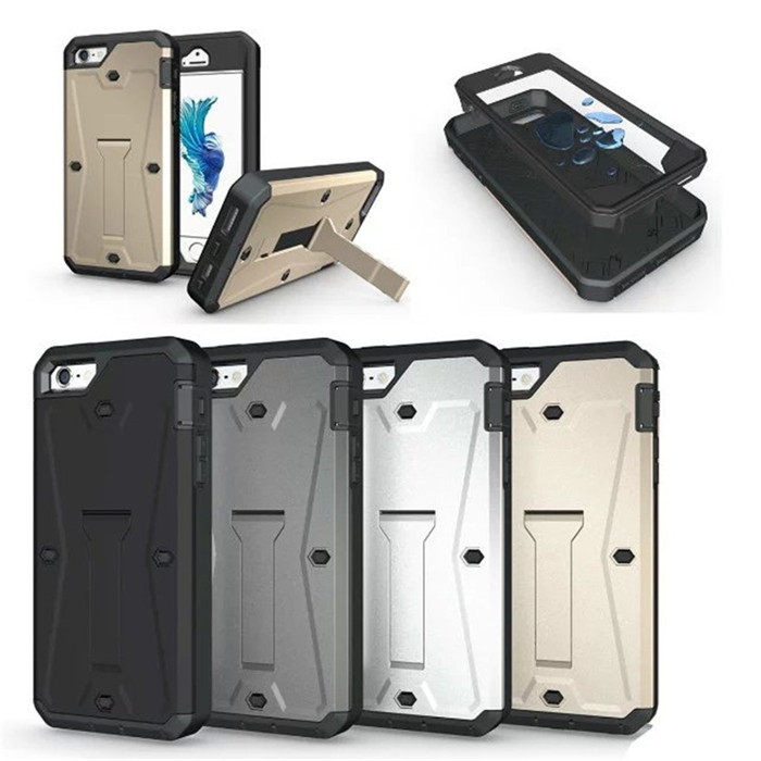 Military Tanks Armour 3 in 1 PC + TPU Hybrid Armor Stents Case Cover For iPhone 5 5S 5G SE Waterproof Cell Phone Cases(China (Mainland))