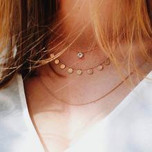 Bls-miracle богемное многослойное колье кулон ожерелье s для женщин Мода Золотой геометрический Шарм ожерелье в виде цепи, ювелирные изделия опт...(China)