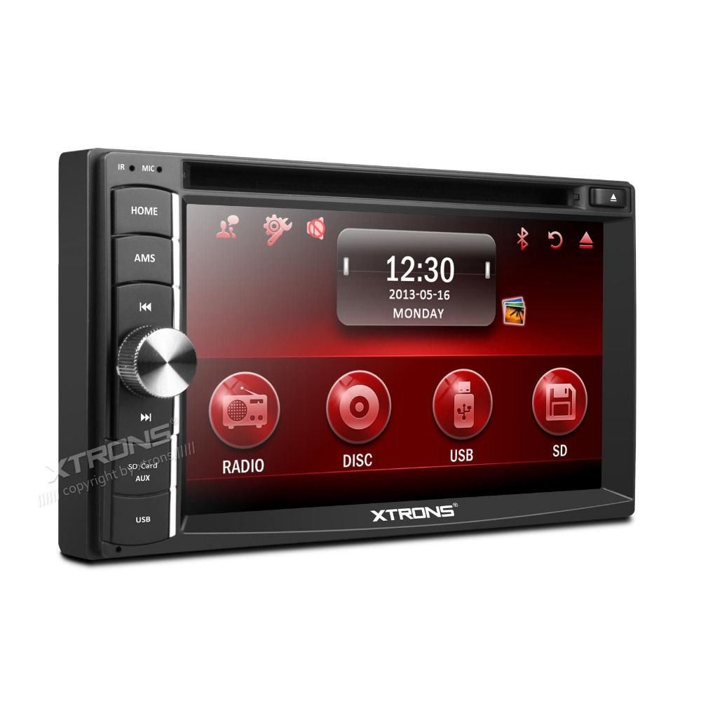 "XTRONS 6.2"" HD digital TFT touch screen 2 din Car DVD Player SWC Bluetooth iPod Double Din dvd(China (Mainland))"