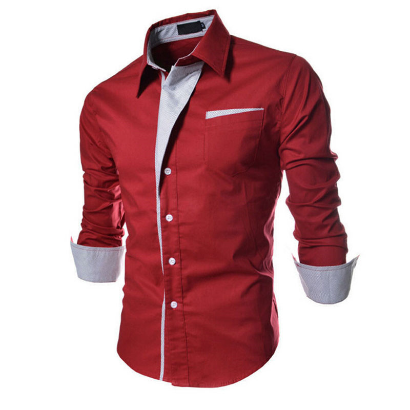 big sale 2015 new fashion stripe men shirts long sleeve