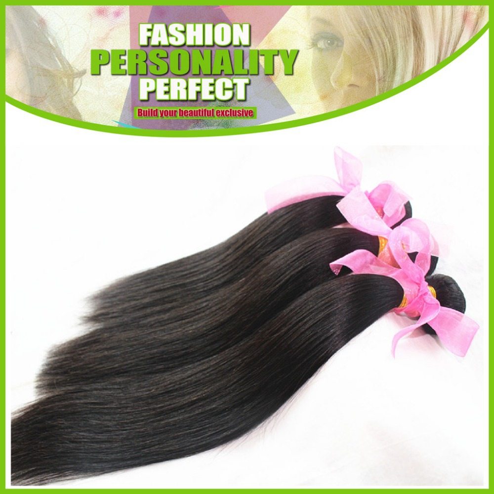 6A 100% Brazilian Virgin Hair Weave 10-30inch Natural Color 2pcs/lot Silky Straight  Brazilian Human Hair Extensions(China (Mainland))