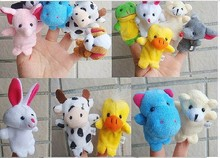 F08869 JMT 1 Piece Velvet Finger Puppet Mini Cloth Animal Design Play Learn Story Toy Random Shipped + FS(China (Mainland))