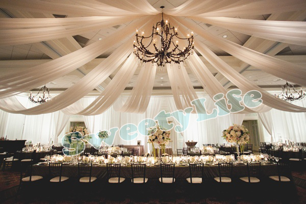 Wedding Ceiling Canopy Decorations Pieces Drape Drapery For