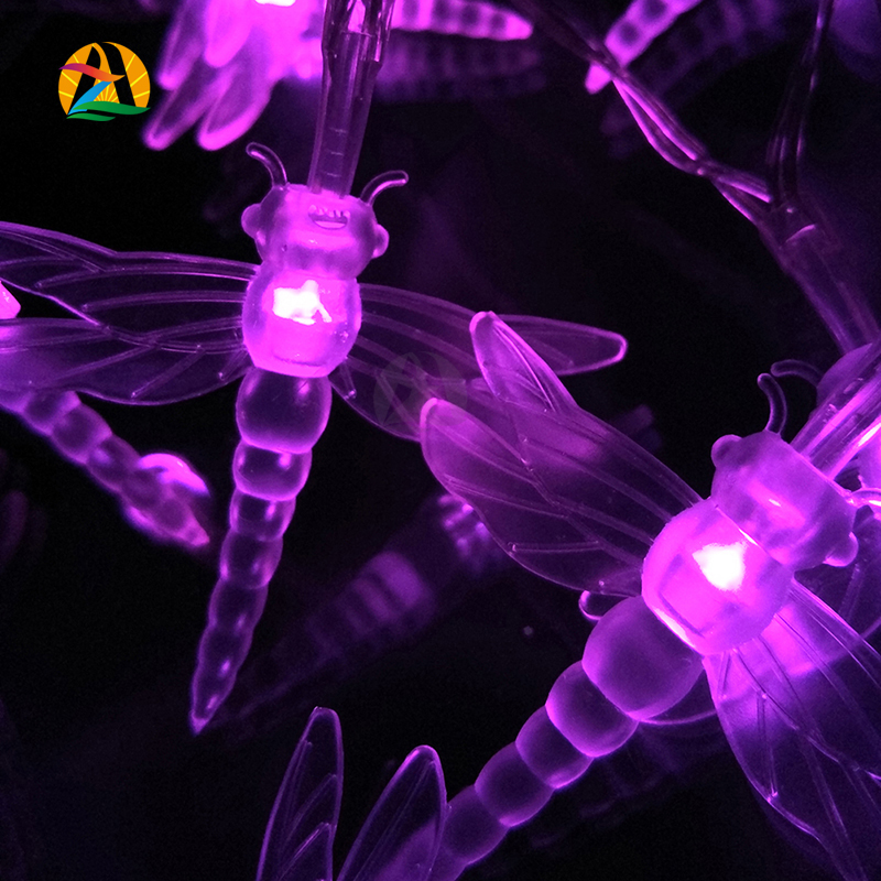 2016 20LED 2M Colorful Dragonfly LED Holiday Lights Strings For Parties and Events All Holidays Outdoor Garden Decoration Lights(China (Mainland))