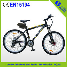 CE EN15194 mountain electric bicycle with 36v lithium battery