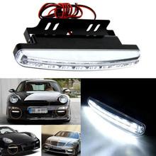 2016 New Hot 1PC 6000K Car Led Daytime Driving Running Light  8LED DRL Car Fog Lamp Waterproof  White Light DC 12V  Freeshipping(China (Mainland))