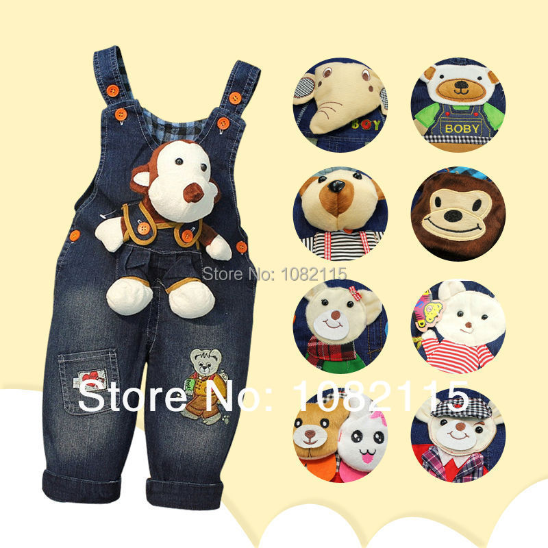 Spring 2015 kids overall jeans clothes newborn baby bebe denim overalls jumpsuits for toddler/infant boys girls bib pants(China (Mainland))