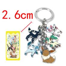 Pokemon Pikachu Eevee Keychains Cartoon anime figures toys Key Chains Pendants boys Girls kawaii keyring toys Christmas Gifts