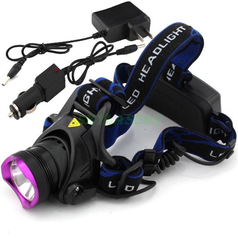 18650 Type CREE XM-L T6 LED Headlamp Headlight AC100-240v Flashlight Head Lamp Light 2000 Lumens + Car Charger + Charger(China (Mainland))