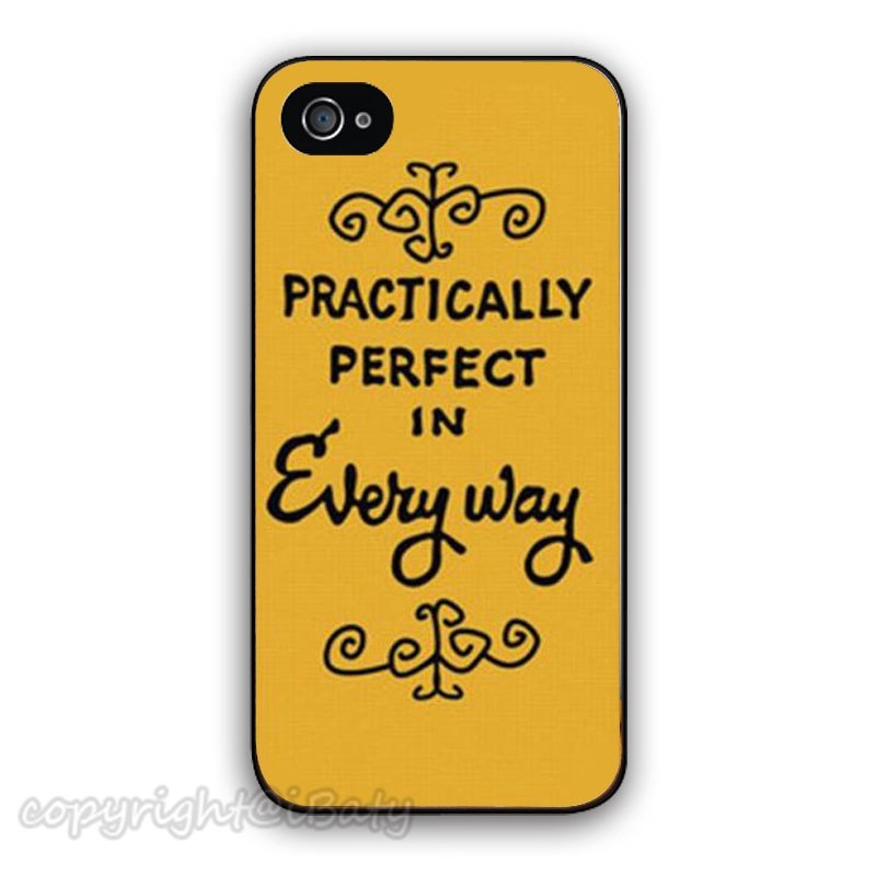 Mary Poppins Practically Perfect Every Way Protective Cell Phone Case Apple iPhone 4 4s 5 5s 5c 6 6s plus mobile cover - iBaty Cute Custom Gift Co., Ltd. store