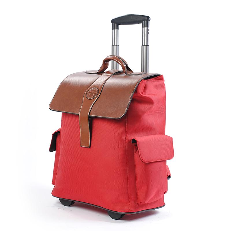 Фотография Fashion multifunctional double-shoulder back waterproof trolley bag travel luggage 20 chromophous,high quality oxford fabric bag