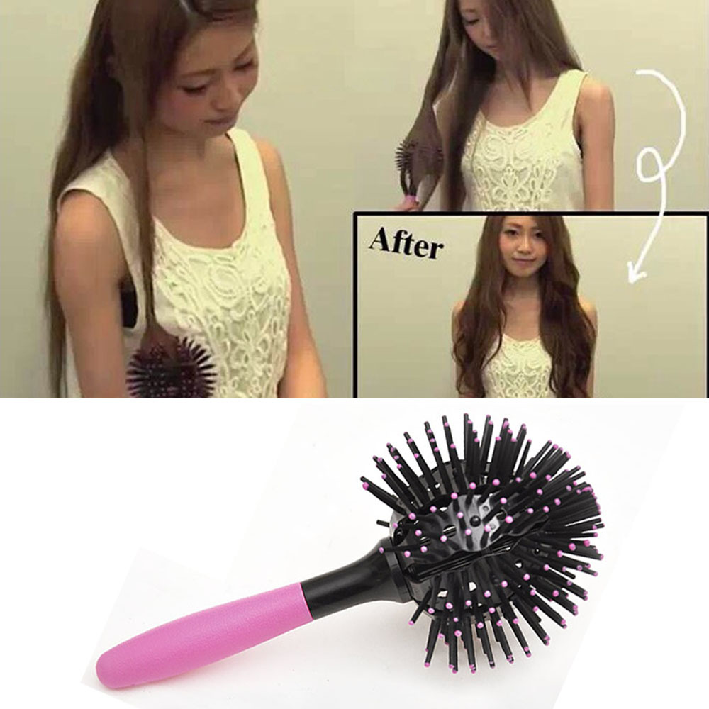Hot New Fashion Hair Extension Brushes Comb Salon Styling Magic Detangling 3d Round Tangle