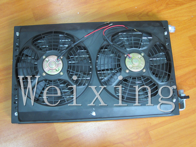 Auto AC universal condenser with fan<br><br>Aliexpress