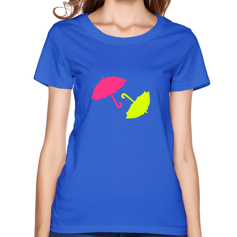 colorful umbrella tops t shirt flag short sleeve female