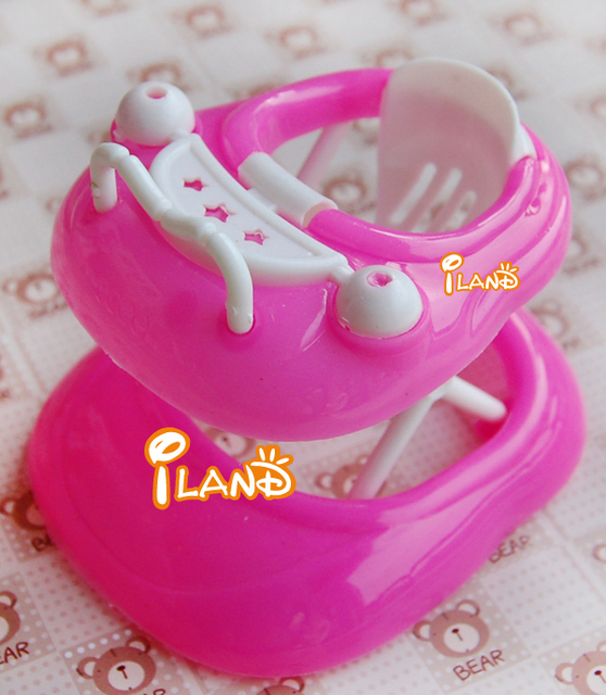 iland 1:12  Dollhouse Miniature Plastic pink Baby walker HE001C Free Shipping