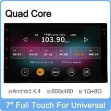 7″ Full Touch Quad Core Android 4.4 Unversal 2 Din Car DVD Player GPS Navigation 2Din Radio Headunit Stereo Multimedia System