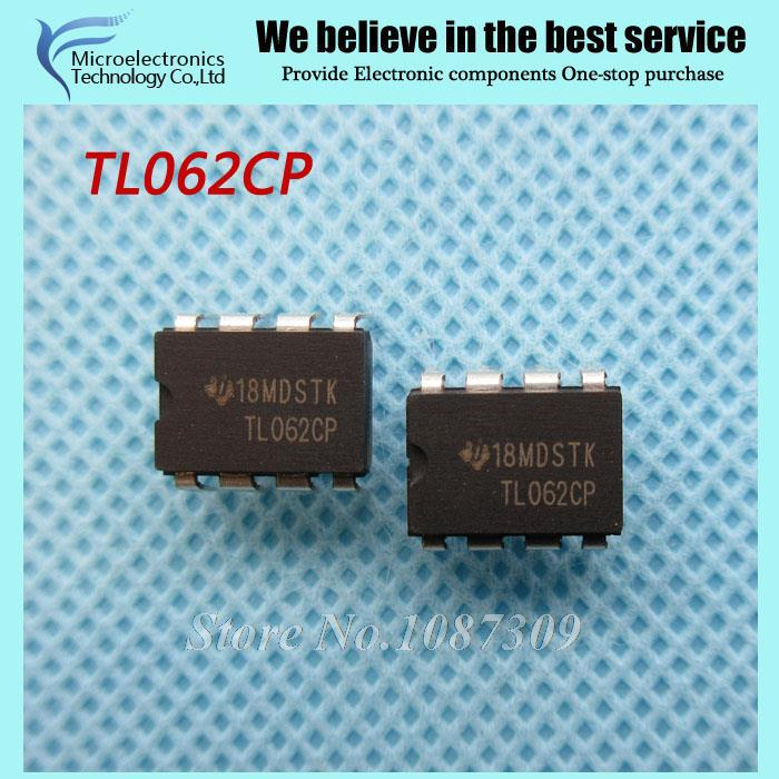 50pcs free shipping TL062CP TL062C TL062 DIP-8 Operational Amplifiers - Op Amps JFET Input Low Pwr new original(China (Mainland))