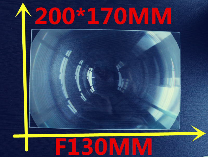 size 200*170MM Focal length 130 mm Acrylic fresnel Lens Rectangle Concentrated amplification fresnel lens solar 2 pcs/lot