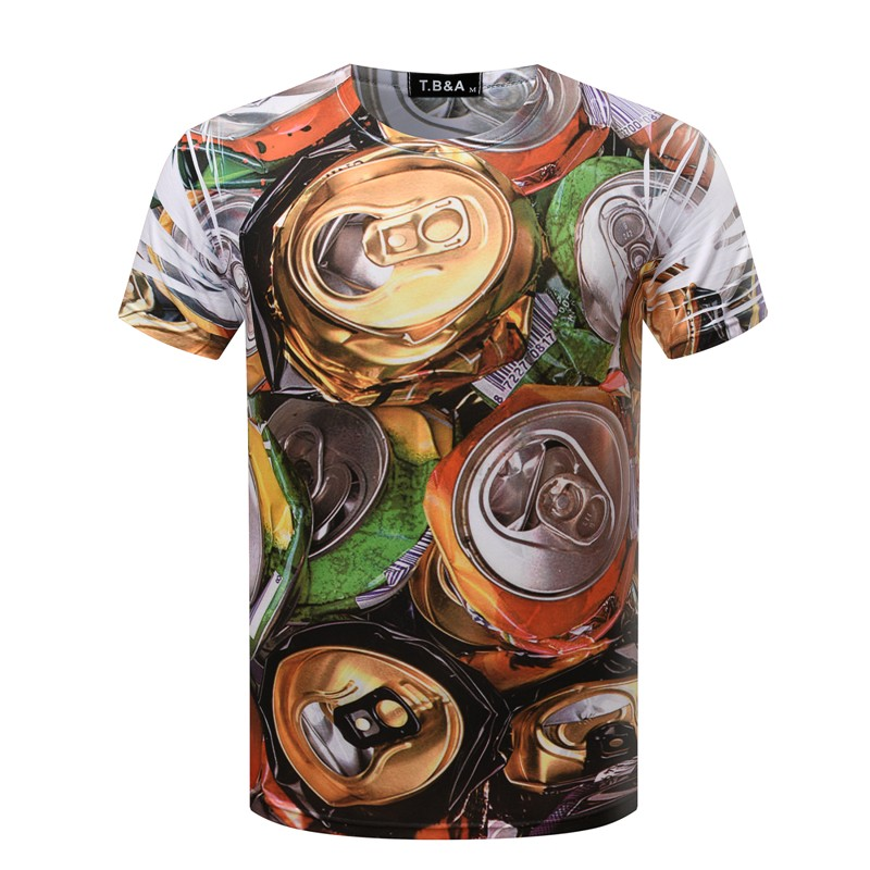 Double Front Side & Back Side 3D Printing Abstract T Shirt 20 Styles 3 Sizes Men's Tops Tees Shirts TX90 Free Shipping(China (Mainland))