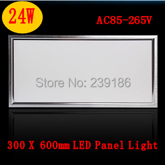 2Pcs/Lot Square led panel kitchen light 300*600 24W bath panel lamp office ceiling lamp Warm white cool white panel wall ceiling(China (Mainland))