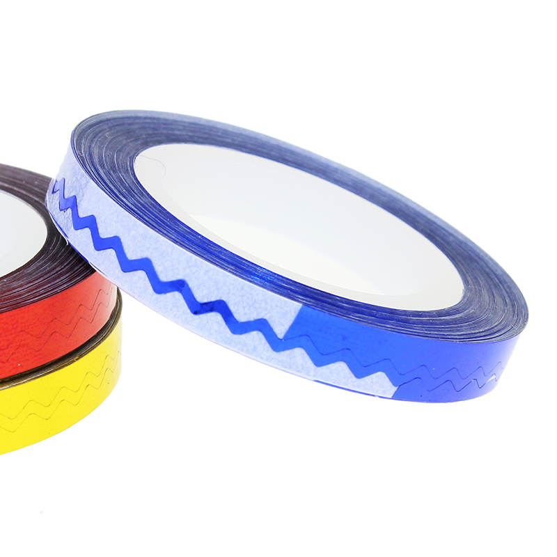 New 1 Pcs 6 Colors Nail Rolls Waves Striping Tape Line DIY 3D Nail Art Tips Decoration Stickers For Nails Care JH236(China (Mainland))