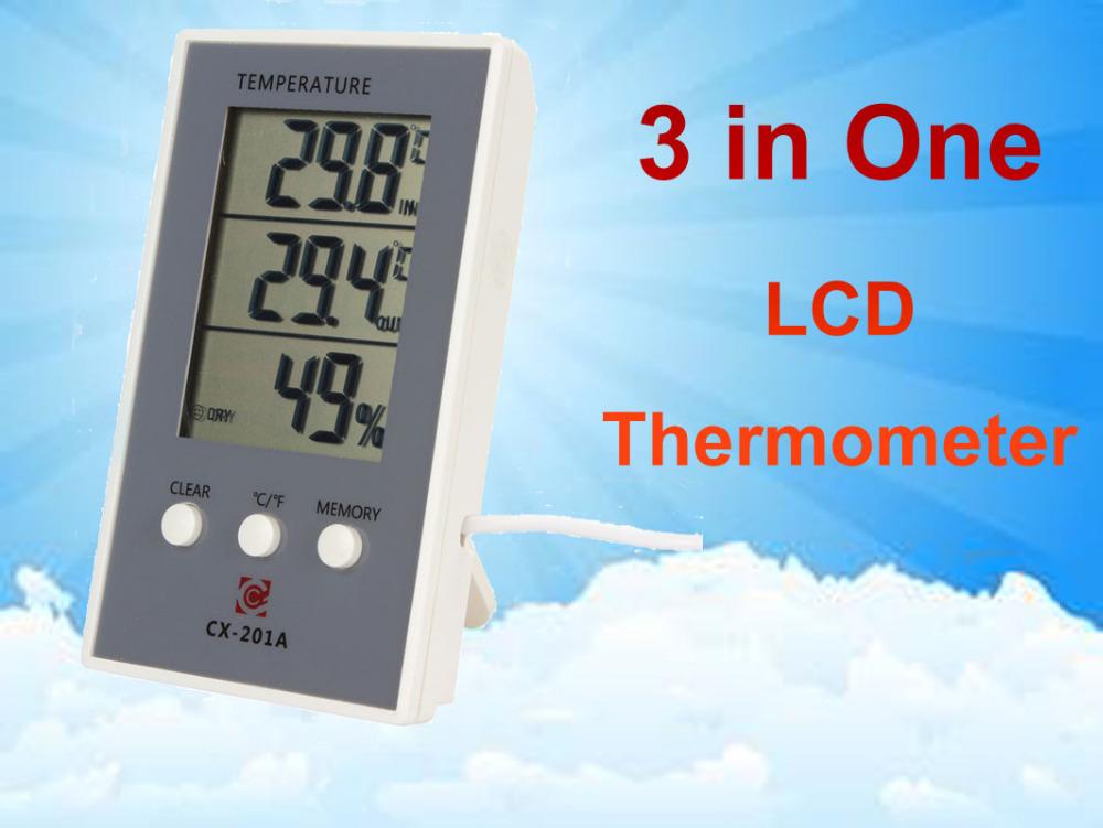 Гаджет  CX-201A Lcd Digital AquariumThermometer Hygrometer Temperature Measuring Humidity Meter Wired External Sensor None Инструменты