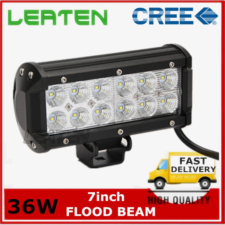 36W CREE LED Flood Beam Work Light For Track Offroad SUV ATV Motorcycle Day light led car led trailer lights led fog light(China (Mainland))
