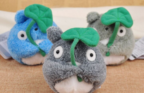 Kawaii NEW 10CM MY Neighbor Leaf TOTORO Plush Stuffed TOY ; Children Gift TOY DOLL Wedding Gift TOY Bouquet Gift TOY DOLL(China (Mainland))
