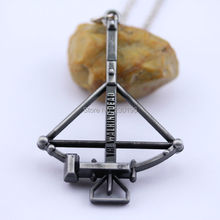 The Walking Dead Necklace with Daryl's Crossbow Alloy Charm