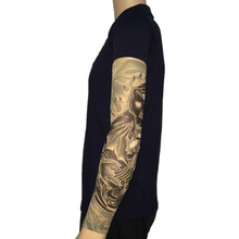Devil Hordes Nylon Fake Tattoo Arm Warmers Oversleeve Temporary Tattoo Arm Sleeves For  Exercise Sunscreen(China)