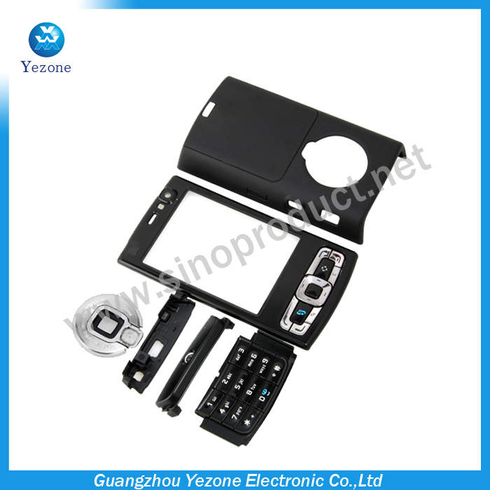 Black Full Housing Housings Cover Case + Keypad For Nokia N95 8GB Housing 5 pcs/lot Free Shipping(China (Mainland))