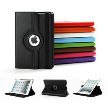 360 Rotation PU Leather case for Apple iPad Air 5 Smart cover ipad5 flip cases with stand function(China (Mainland))