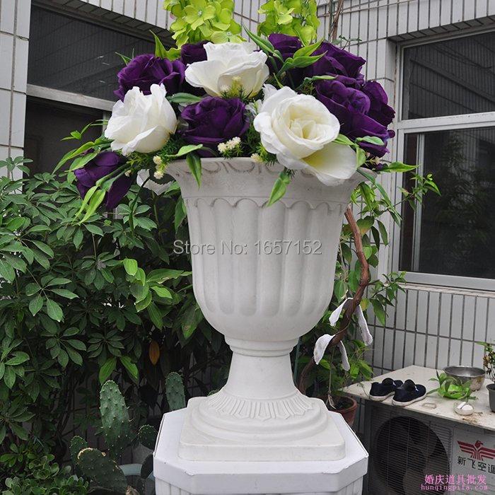 Weiß Kunststoff Blumentöpfe-Kaufen billigWeiß Kunststoff