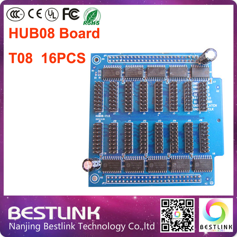 led controller card with 50pin for led module with t08 port hub08 pinboard adapter board supply for rgb led screen led billboard(China (Mainland))