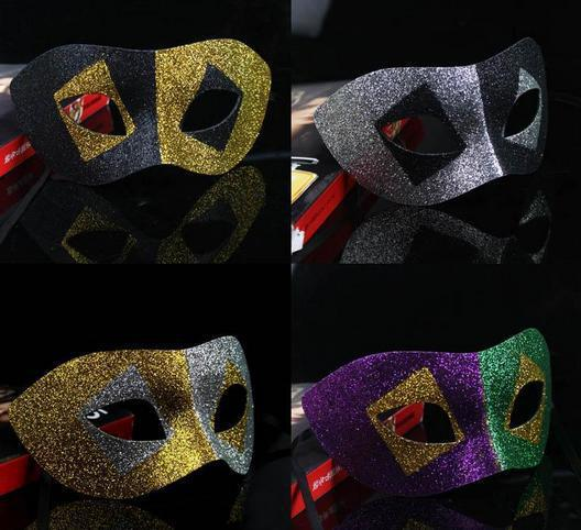 Free shipping Masquerade masks fashion mask full gold dust Halloween Venetian Slap-up party mask  wholesale PW007
