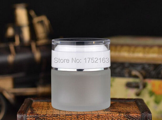 Wholesale 50G Frosted Glass Cream Jars Cosmetic Container Eye Cream jar Cosmetic Jar Cosmetic Packaging Glass Bottle White lid(China (Mainland))