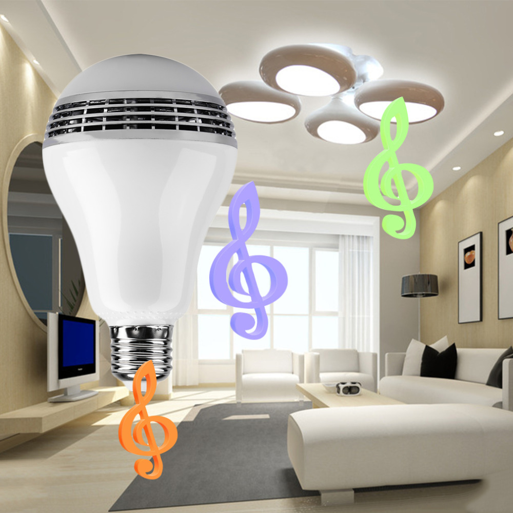 Wireless Bluetooth Control Mini Speaker Music LED Light Bulb E27 RGB Lamp<br><br>Aliexpress