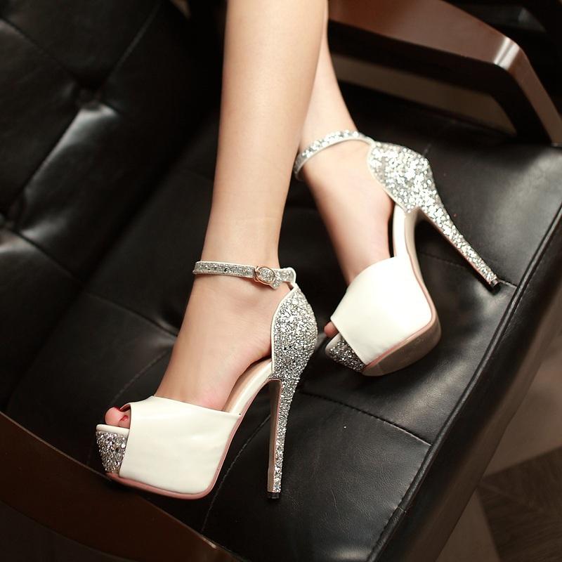 5 Colors Size 34-39 Sexy High Heels Platform Shoes Pumps Women's Dress Fashion Wedding shoes lady Pump ZL031(China (Mainland))