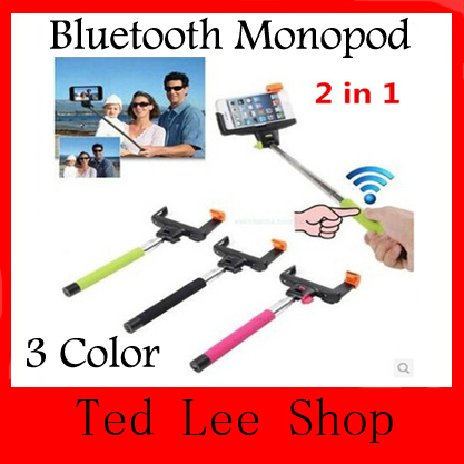 Z07-5 Wireless Bluetooth Extendable Monopod Handheld Self Portrait Selfie Stick with Remote Shutter Function for iPhone Samsung(China (Mainland))