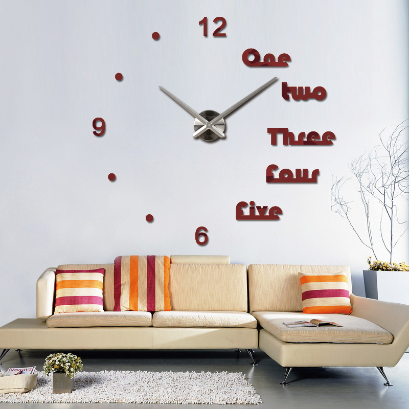 watch large decorative clocks europe living room acrylic 3d stickers