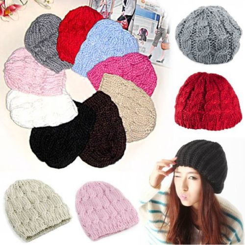 Гаджет  Hot Fashion Lady Women  Knit Baggy Beanies Crochet Beret Hat Ski Cap Winter Warm Skullies None Одежда и аксессуары